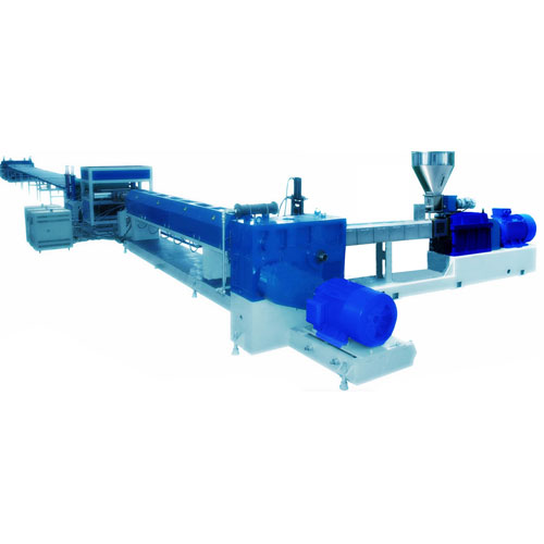 Twin-screw plastic extruder machine